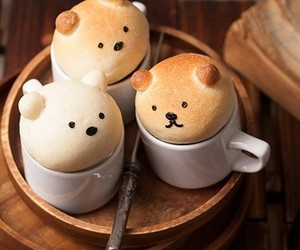 cute, food, and bear image