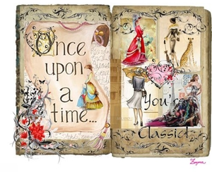 book, fairy tale, and once upon a time image