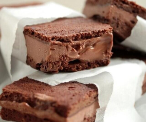 chocolate, food, and brownie image