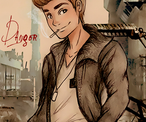 justin bieber, danger, and drawing image
