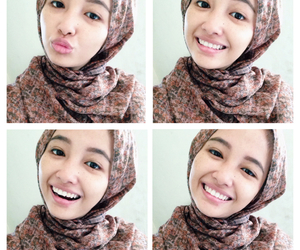 girl, hijab, and smile image