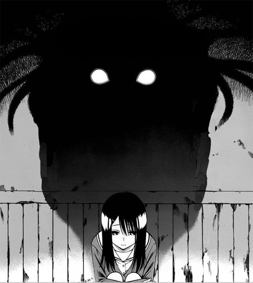 anime, manga, and dark image