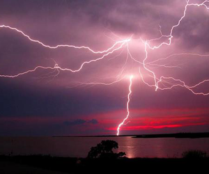 lightning, sky, and nature image