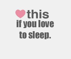 sleep, love, and heart image