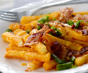 bacon, French Fries, and cheddar image