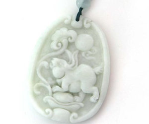 carved, jade, and etsy jewelry image