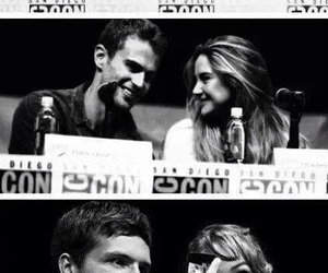 Jamie Campbell Bower, Shailene Woodley, and theo james image