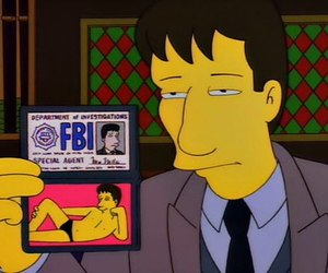 funny, the simpsons, and fbi image