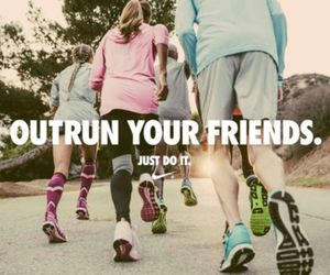 run, workout, and friends image
