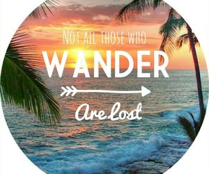 beach, quote, and sunset image