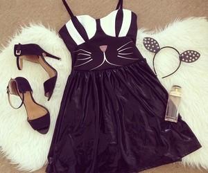 fashion, cat, and dress image
