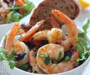 food, garlic, and seafood image