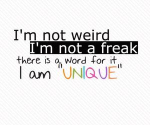unique, quotes, and freak image