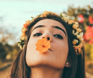 flower crown, flowers, and fest life image
