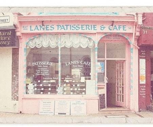pink, cafe, and vintage image