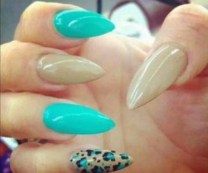 almond, beautiful, and nails image