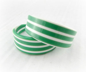 vintage jewelry, green hoops, and large hoops image