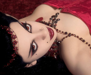 goth, red, and red eyes image