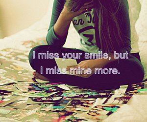 smile, quote, and miss image