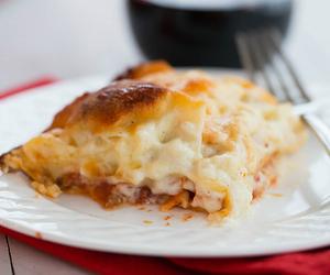 lasagna, bolognese, and bechamel image