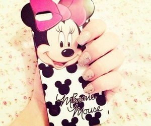 iphone, minnie mouse, and minnie image