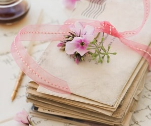 vintage, letters, and pink image