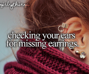 text, earrings, and fashion image
