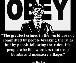 BANKSY, obey, and crime image