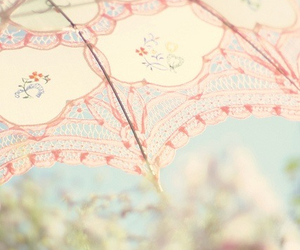 umbrella, pink, and pastel image