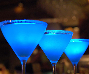 drink, blue, and alcohol image