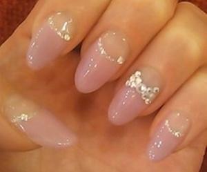 bow, diamond, and nail polish image