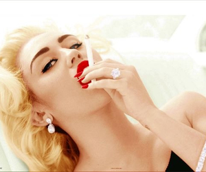 cigarette, miley, and make up image