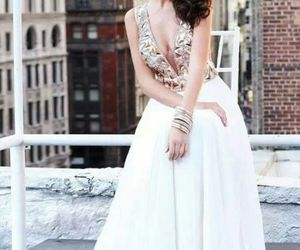evening dress and fashion image