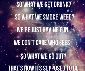 drunk, galaxy, and life image