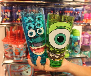 blue, cup, and disney image