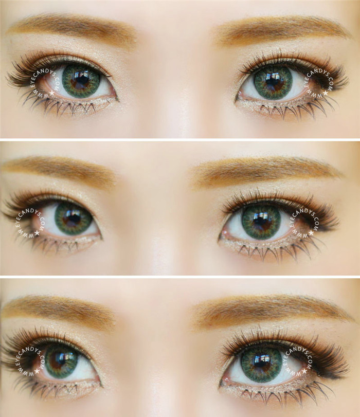 9e38a67ecfe GEO Tri-Color World Green Colored Contact Lens - EyeCandy s