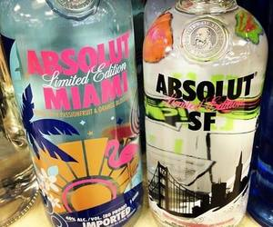 vodka, drink, and absolut image