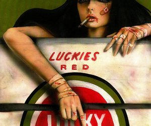 cigarette and lucky strike image