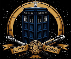Geronimo, tardis, and allons-y image