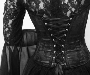 gothic, corset, and goth image