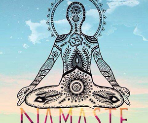 namaste, yoga, and peace image