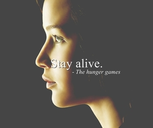 quote, katniss, and hunger games image