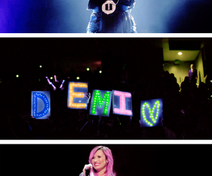 beautiful, demi lovato, and the neon lights tour image