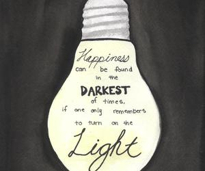 light, quote, and happiness image