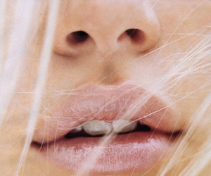 lips, blonde, and pink image
