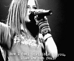 alone, Avril Lavigne, and invisible image
