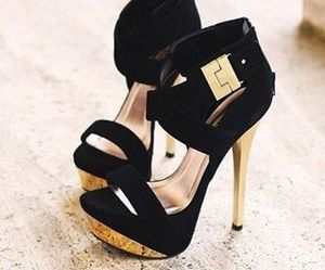 shoes, black, and heels image