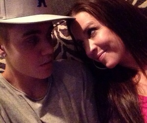 justin bieber, pattie, and justin image
