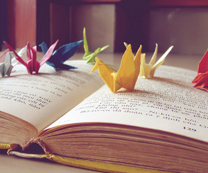origami and book image