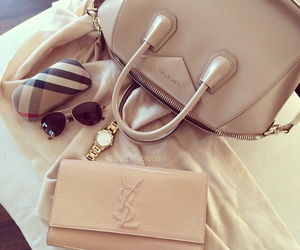 bag, Burberry, and gold image